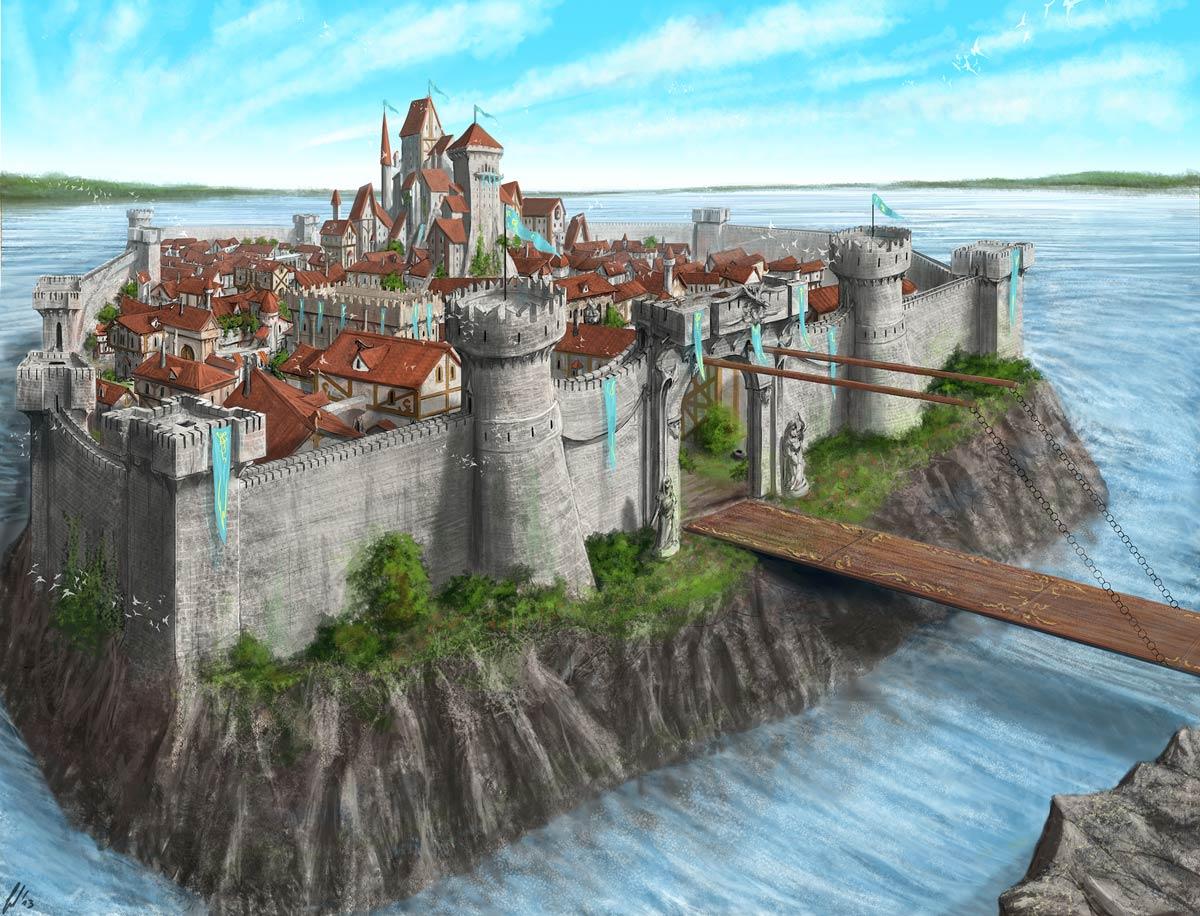 Immagine di Aneria - Illustrazione fantasy tratta da Ombre dal Passato - Le Cronache dei 5 Regni - Elvio Ravasio, autore di libri fantasy