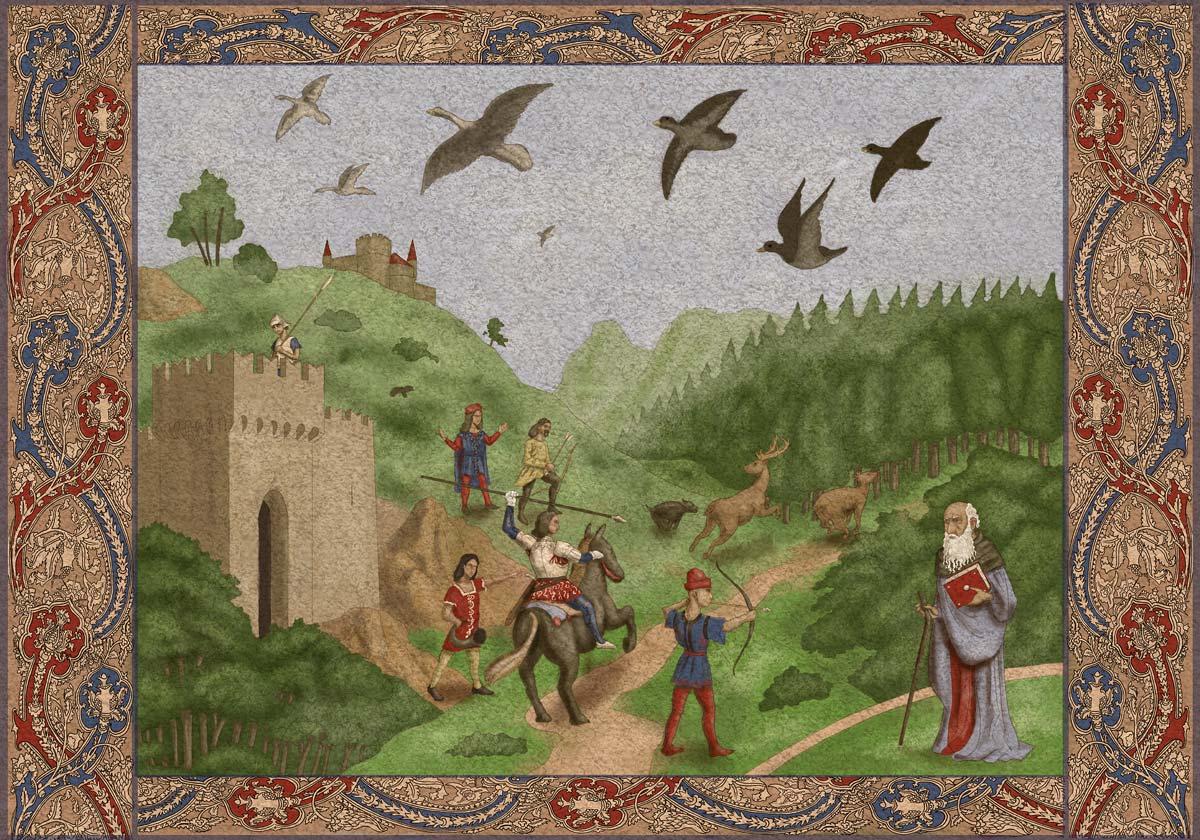 Immagine arazzo - Illustrazione fantasy tratta da Altèra - Le Cronache dei 5 Regni - Elvio Ravasio, autore di libri fantasy