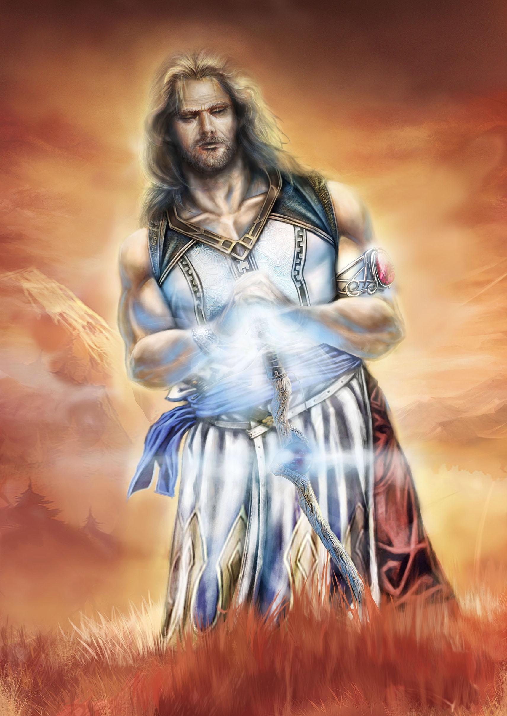 Immagine di Arkàdon - Illustrazione fantasy tratta da I Guerrieri d'argento - Le Cronache dei 5 Regni - Elvio Ravasio, autore di libri fantasy
