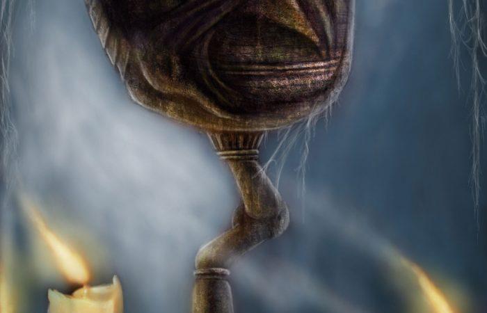 Immagine del calice - Illustrazione fantasy tratta da I Guerrieri d'argento - Le Cronache dei 5 Regni - Elvio Ravasio, autore di libri fantasy
