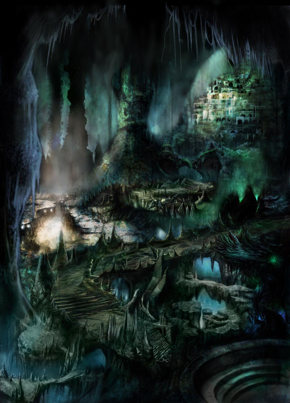 Immagine della città degli omini - Illustrazione fantasy tratta da I Guerrieri d'argento - Le Cronache dei 5 Regni - Elvio Ravasio, autore di libri fantasy