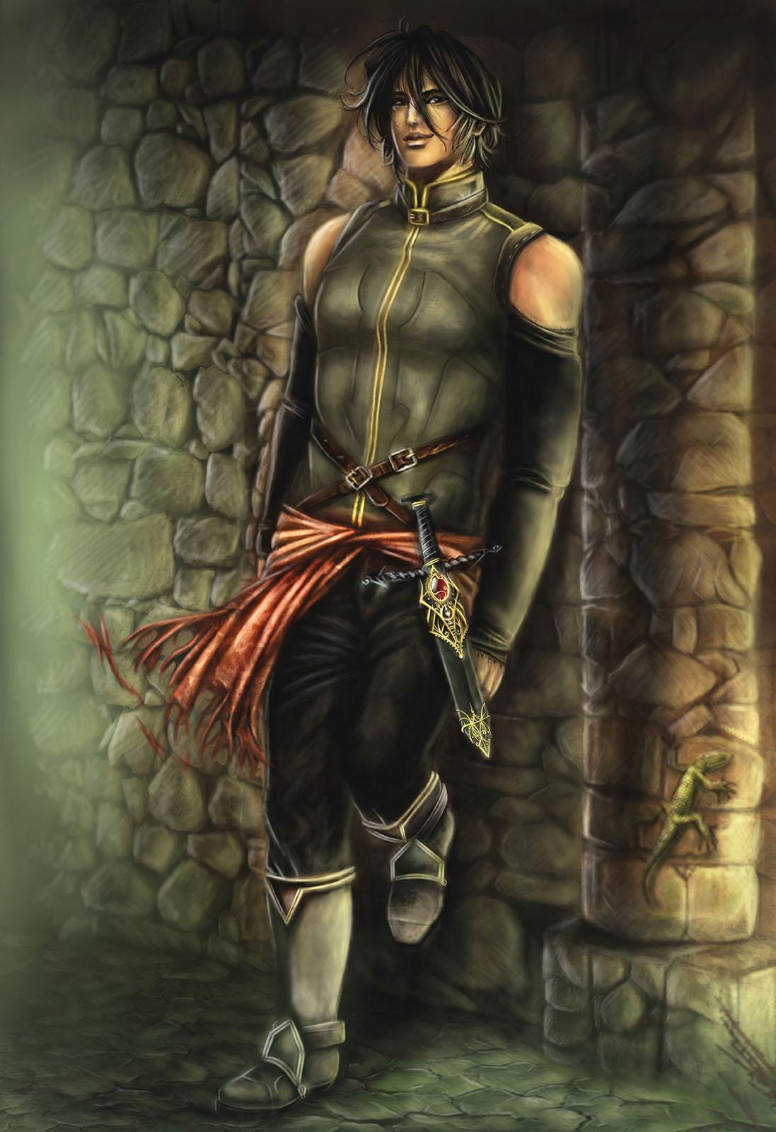 Immagine di Elamar - Illustrazione fantasy tratta da I Guerrieri d'argento - Le Cronache dei 5 Regni - Elvio Ravasio, autore di libri fantasy