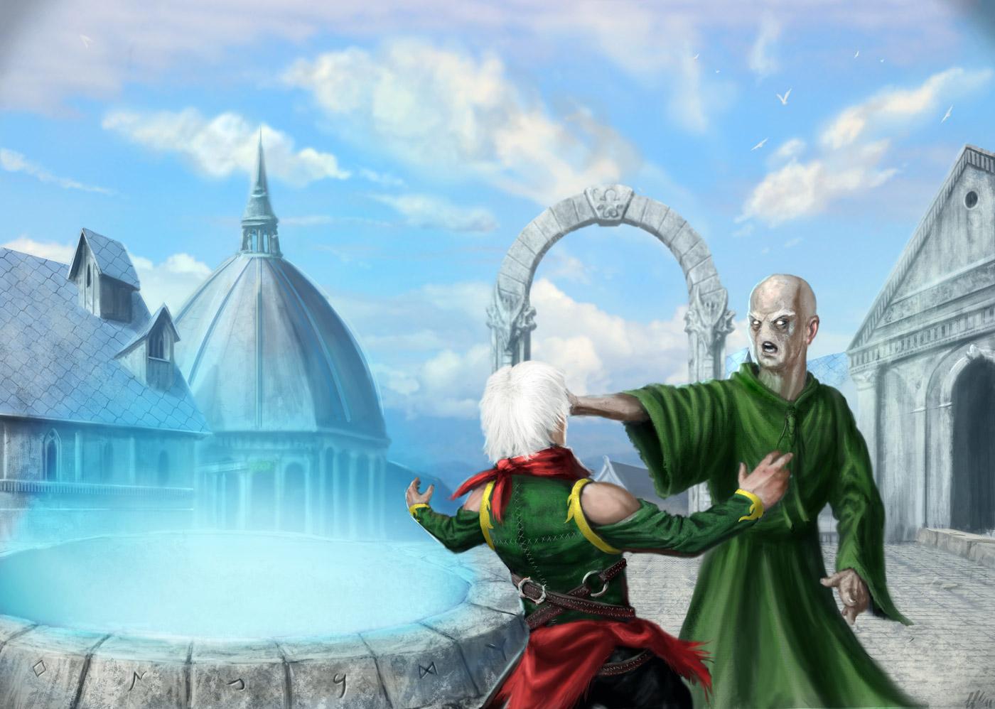 Immagine ingresso - Illustrazione fantasy tratta da Kiria - Le Cronache dei 5 Regni - Elvio Ravasio, autore di libri fantasy