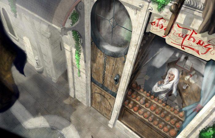 Immagine Nayla la scorbutica - Illustrazione fantasy tratta da Kiria - Le Cronache dei 5 Regni - Elvio Ravasio, autore di libri fantasy