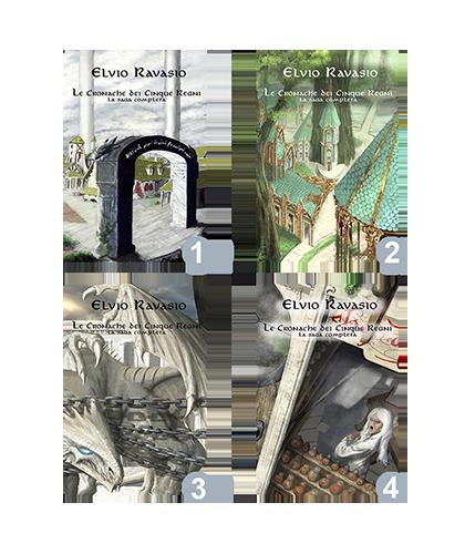Cofanetti libri edizione limitati - Saga delle Cronache dei 5 Regni - Elvio Ravasio, autore di libri fantasy