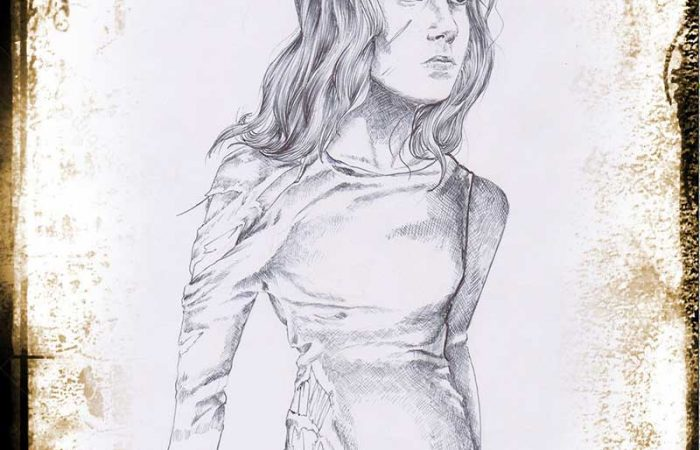 Immagine Strega Cornice - Illustrazione fantasy - Medioevo - Elvio Ravasio, autore di libri fantasy